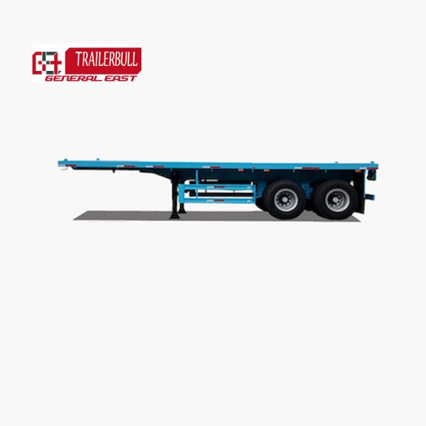 GET.9TJZP.2:20 20ft 2 Axles heavy duty ISO Container Flatbed Truck Semi Trailer5