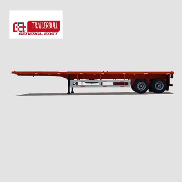 GET.9TJZP.2:40 40ft 2 Axles Light Capacity ISO Container Flatbed Truck Semi Trailer1